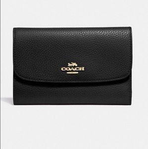 Coach Pebble Med Envelope Wallet